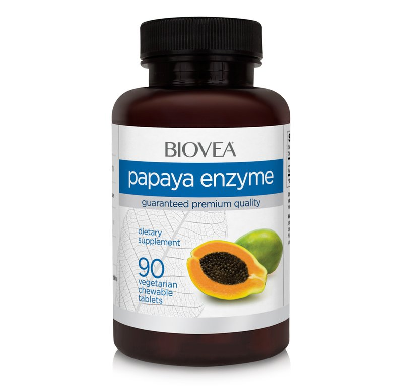Papaya Enzyme 500 mg, 90 tablete masticabile,